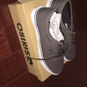 Osiris SD grey, white, and black skate shoes